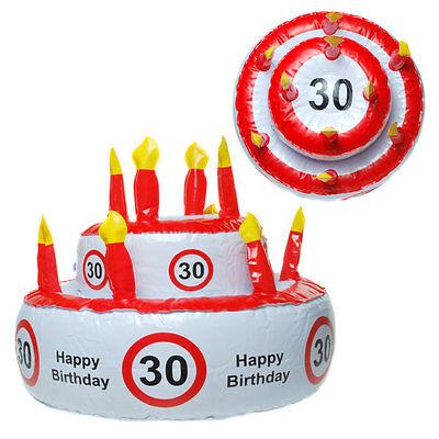 30 Happy Birthday Aufblasbare Torte Geburtstagstorte Scherzartikel Geburtstag