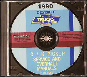 1990 chevy ck pickup overhaul and shop manuals on cd truck service rh ebay com Ford Truck Manual Chevy Truck Wiring Diagram