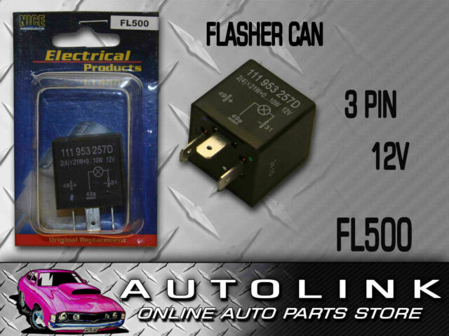 ELECTRICAL FLASHER CAN 3 PIN FOR ALFA ROMEO AUDI BMW FORD BRONCO F SERIES ESCORT