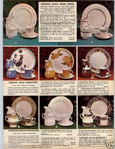 Image is loading 1969-PAPER-AD-Ceramic-Guild-Ironstone-Bone-China- & 1969 PAPER AD Ceramic Guild Ironstone Bone China Plates Tampico ...