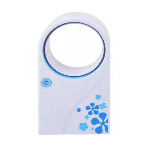 No Leaf Portable USB Bladeless Fan Refrigeration Desktop Air Conditioner Plastic