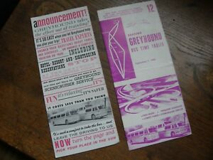 Details about 1960S ERA GREYHOUND BUS TIME TABLE & GREYHOUND BUS MAP ROUTE  PLANNER