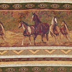 Cavalia Wild Mustangs Upholstery Fabric Western Lodge Horses