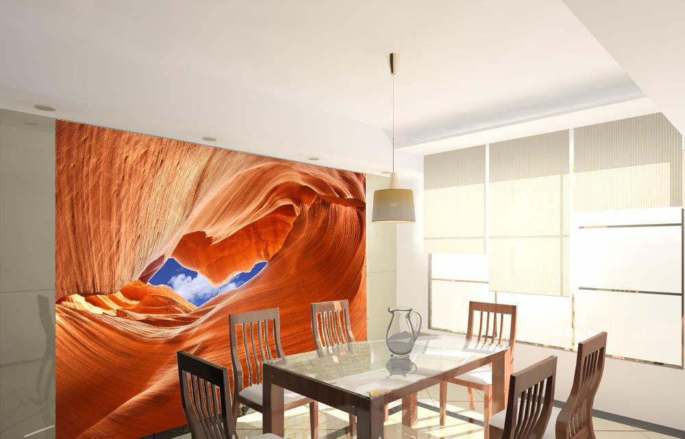 3D orange Desert 73 Wall Paper Murals Wall Print Wall Wallpaper Mural AU Lemon