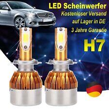 Paar Upgrade 72W H7 LED Scheinwerfer Birnen Headlight Leuchte Lampen Weiß 6000K