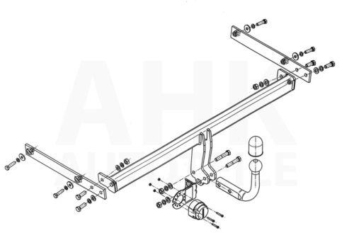 Anhängerkupplung starr+E-Satz 13p Ford Fiesta VI 3//5-Tür Schrägheck 08-17 Kpl