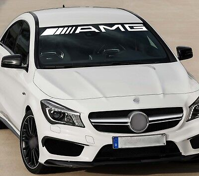 For Mercedes ` ////////AMG `  SCREEN CAR DECAL STICKER ADHESIVE 550mm long