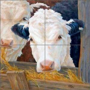 Cow-Art-Tile-Mural-Backsplash-Elliott-Ceramic-Country-Life-CCI-LE241