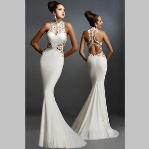 Kleid lang spitze weiss