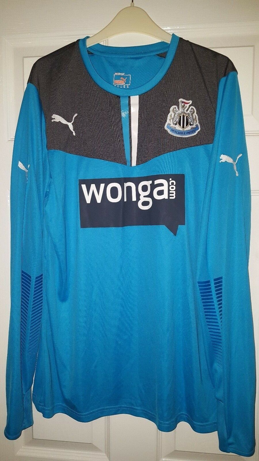 Camicia calcio da uomo-Newcastle United-Goal Keeper 2013 Manica Lunga-Puma XL