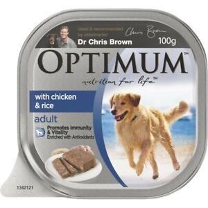Optimum Chicken Loaf Adult Wet Dog Food Tray 100g