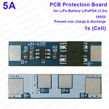 1S LiFePO4 LiFe Battery 18650 Charger batteries PCB Protection Board 3.2v 5A