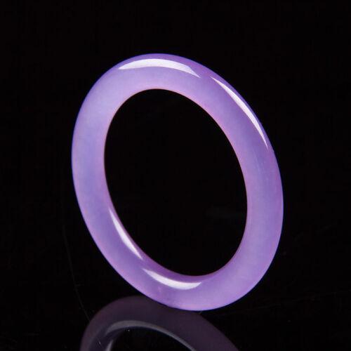 100/% Chinese Natural Beautiful Lavender Purple Jade Bangle Bracelet 61mm