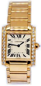 Cartier-Tank-Francaise-18k-Yellow-Gold-amp-Diamond-Ladies-Watch-1821