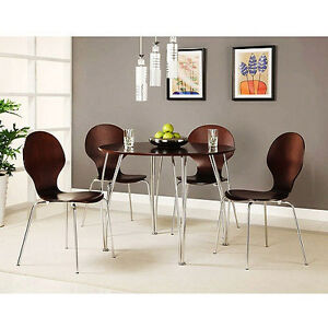 Image Is Loading Retro 5 Piece Bentwood Shell Dining Set Kitchen
