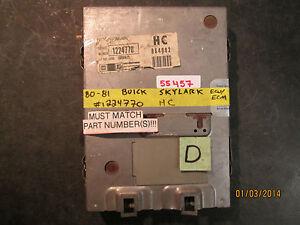 80-81-BUICK-SKYLARK-ECU-ECM-1224770-HC-see-item-description