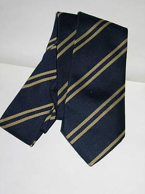 Tie-navy Blu Con Righe-unisex Nuova £ 9.99 Gratis P & P-mostra Il Titolo Originale Modellazione Duratura