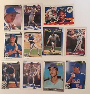 Details About Baseball Cards New York Mets Mlb Collectable Baseball Cards Lot Of 11