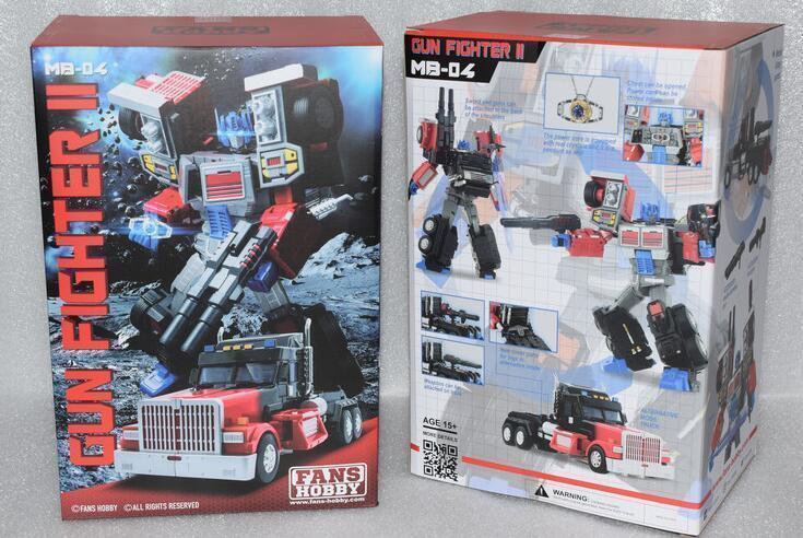 Nuevos Transformers fanshobby Master Builder MB-04 pistolero Ii Optimus Prime