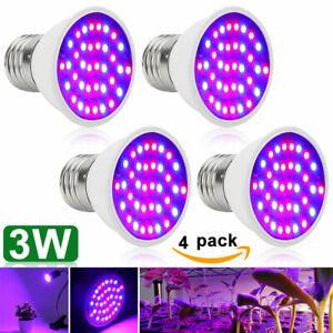 3W E27 36 LEDs Grow Licht LED Pflanzenleuchte Pflanzen Lampe Wachstumslampe DE