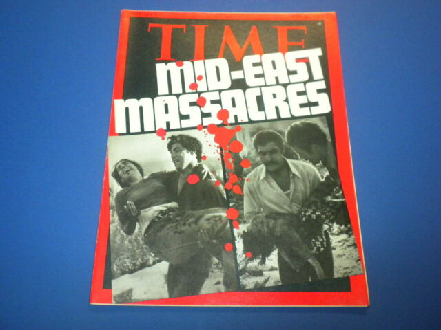 TIME MAGAZINE May 27,1974 MIDDLE EAST MASSACRES high grade NO LABEL