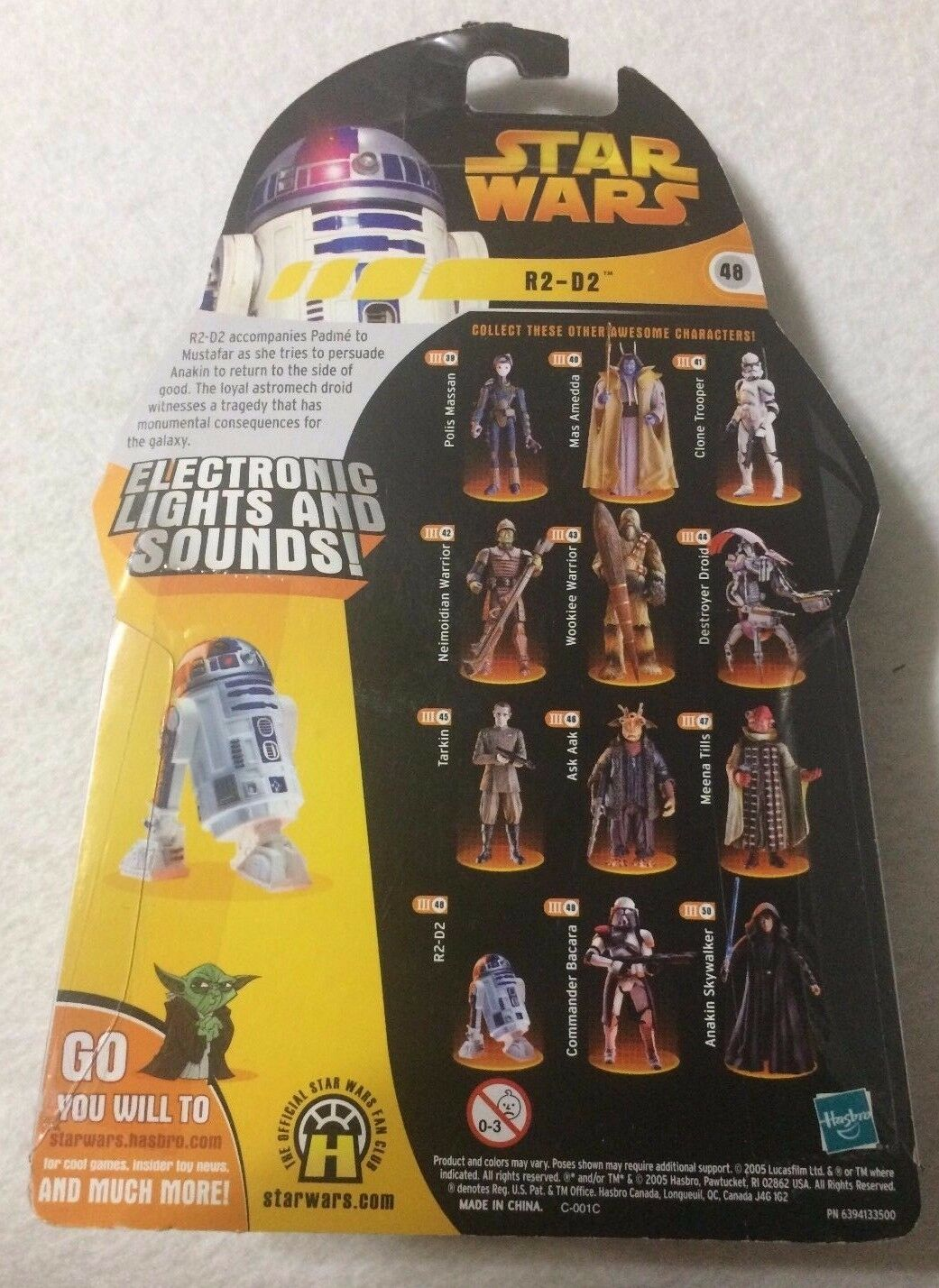 LOT OF 5 STAR WARS FIGURE Die Cast ++ R2-D2 #48 YODA #26 Darth Vader #11 NIB