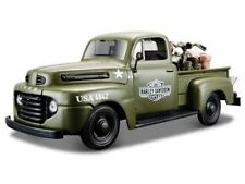 Maisto 1948 Ford F-1 Pick-Up mitHarley-Davidson 1942 WLA Flathead 1:24