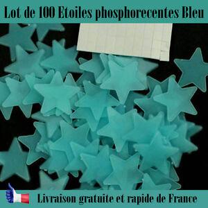 Décoration étoiles phosphorecentes chambre d/'enfant bleu brille dans le noir