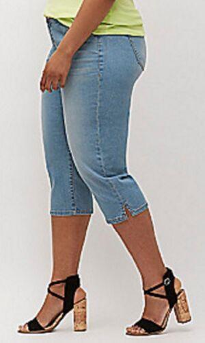 42d5aa5209a 6 of 7  65 Lane Bryant Classic Denim Capri Jeans Plus Size 28 4X Zip Fly w   Button