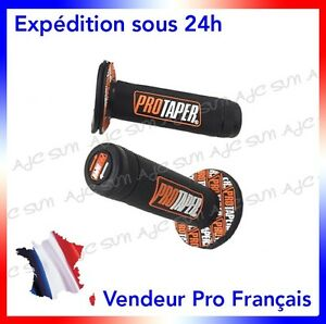 Paire-de-poignees-Pro-Taper-Orange-pour-Moto-cross-KTM-SX-150