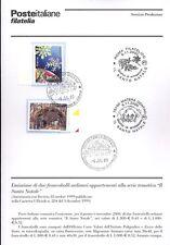 ITALIA 2000 SANTO NATALE  BOLLETTINO COMPLETO DI FRANCOBOLLI FDC