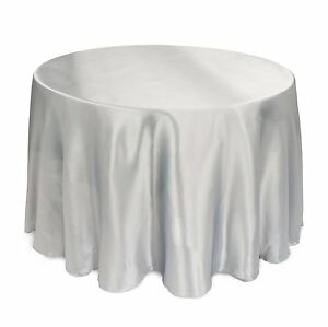 7-PACKS-120-034-inch-Round-SATIN-Tablecloth-WEDDING-25-COLOR-5-039-Ft-table-USA-SALE