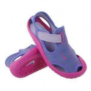1b934a32596c Girls 8 Toddler Nike Sunray Protect TD Water Shoes Sandals Purple ...