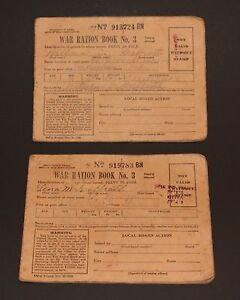 World war two ration book