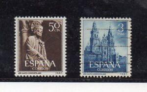 Espana-Ano-Santo-Compostelano-Serie-del-ano-1954-DR-779