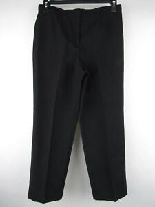 White Stag Petite Para Mujer Talla 10p Negra Plisada Pantalones De Vestir Recto Cierre De Cremallera Ebay
