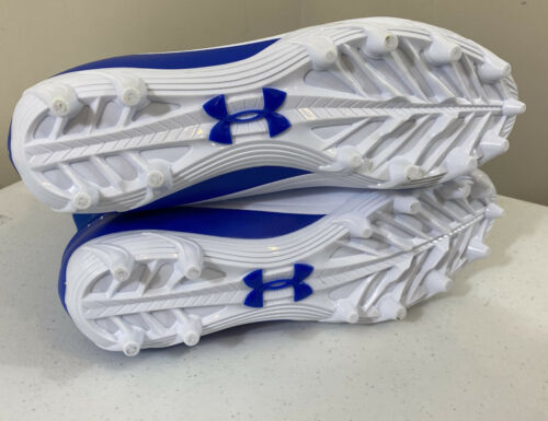 Under Armour Highlight Mid Football Cleats Blue 3000177 Men's Size 7.5