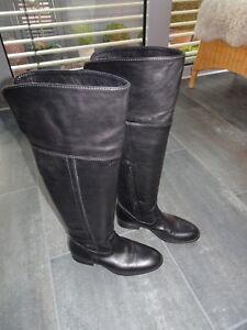 Details zu Overknee Overknee Stiefel Geox 38 Leder
