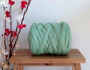 Grün 100/%Merino Wolle Riesig Garn Extreme Arm Stricken Filzen 100 G 1 KG