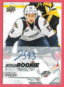 2018-19-Jean-Luc-Foudy-Upper-Deck-CHL-Star-Rookie-Auto-Windsor-Spitfires