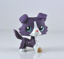 Purple Collie Dog Puppy Littlest Pet Shop LPS Child Girl Toys Animals #1676