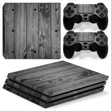 Playstation 4 PS4 Pro Skin Vinyl Design Folie Aufkleber Schutz Sticker HOLZ