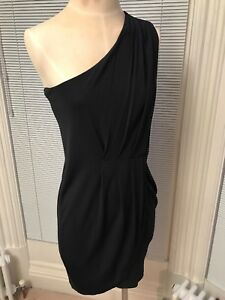 By One Black Shoulder Mini Dress Marc Jacobs Drape Taglia S Adqx1w