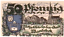 1921 Germany WANDSBEK 50  Pnennig  Notgeld Banknote