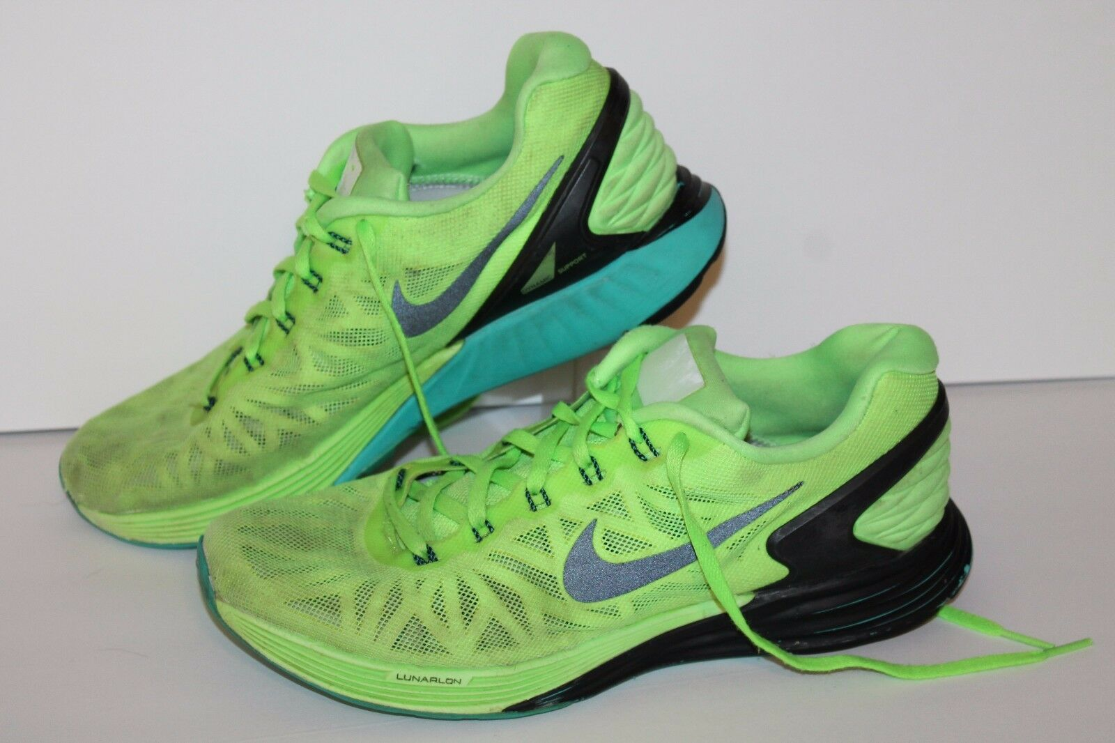 Nike Lunarglide 6 Running Shoes, Flash Lime/Black, Men's US 8.5  Seasonal clearance sale