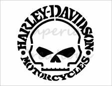 "HARLEY DAVIDSON HD Skull Shield Logo 8.5/"" x 11/"" Stencil Plastic Sheet NEW S428"