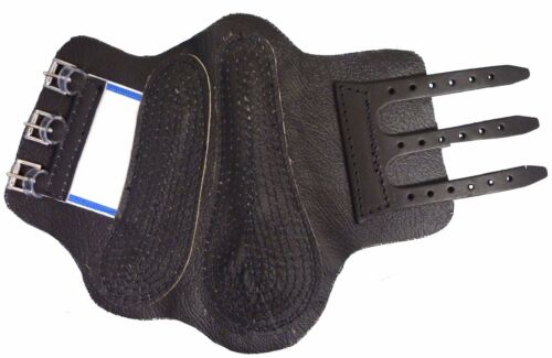 1 Pair A Quilted Cap Ensures A Snug Fit Horse Shin /& Tendon LEATHER  Boots