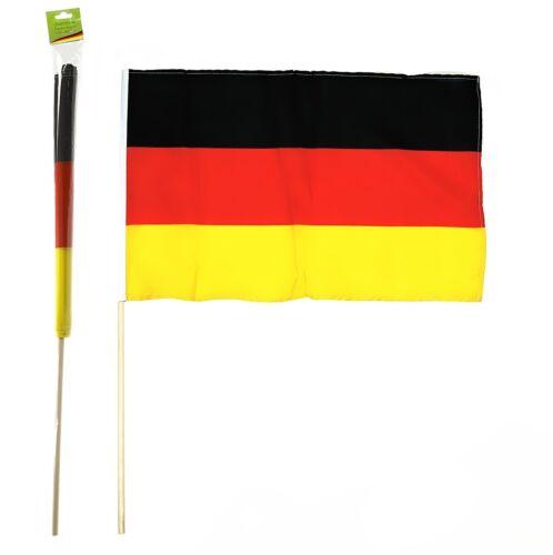 Deutschland Stabfahne Fanartikel WM EM 60 x 90cm Fahne ohne Adler Fußball Flagge
