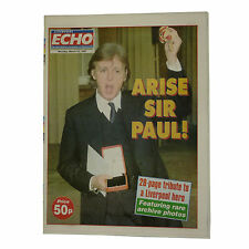 Arise Sir Paul McCartney Beatles Legend Liverpool Echo 1997 A1 Mint Condition
