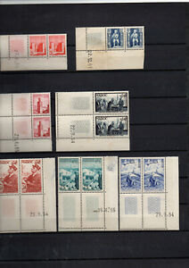 7-Blocs-de-2-coins-dates-Maroc-avant-independance
